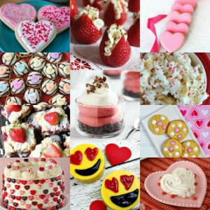 20 Pink and Red Valentines Day Desserts