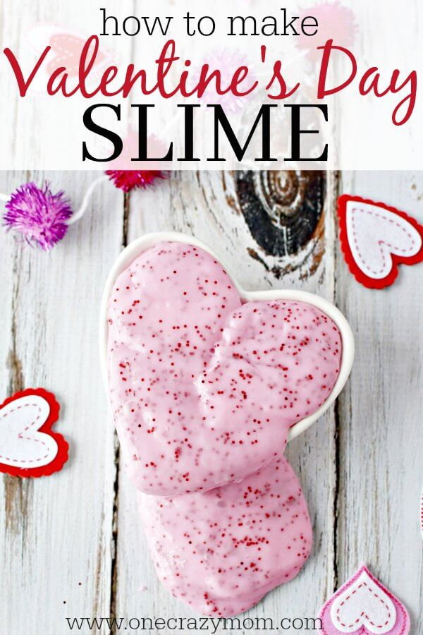 Valentine\'s Day Homemade Slime - DIY Slime that kids will love!