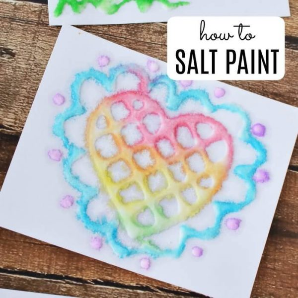 EASY SALT PAINTING FOR KIDS
