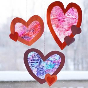 Valentine's Day Craft – Heart Suncatcher