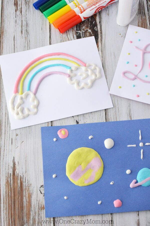 The kids will love this DIY Puffy Paint. Learn how to make puffy paint with only 2 ingredients. This shaving cream paint is so cool. Shaving Cream and Paint is super easy and fun!