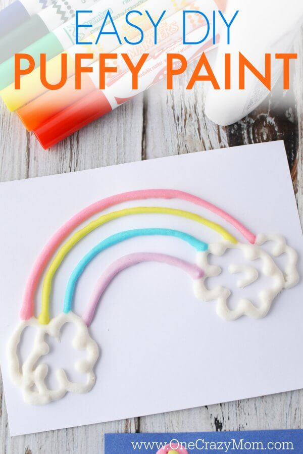 We are going to show you how to make puffy paint and it is super easy! If you need a fun activity at home, try this easy DIY sure to be a blast and entertain the kiddos.