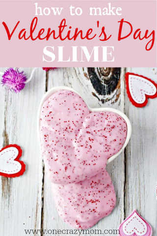 Make this easy Valentines day slime recipe with your kids. They will love Valentine's Day Homemade Slime. Slime is a fun alternative to Valentine's candy.