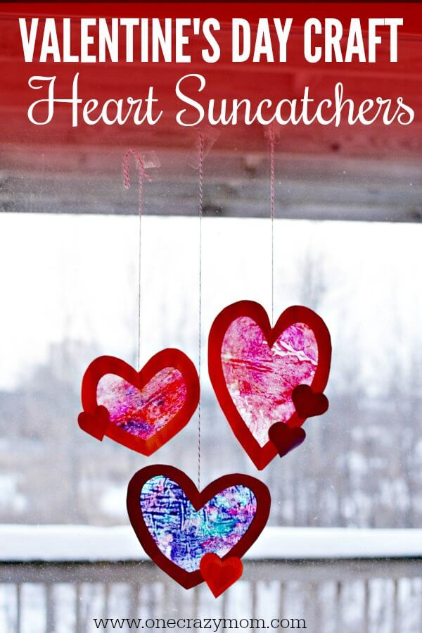 ValentineS Day Craft  Learn How To Make A Heart Suncatcher