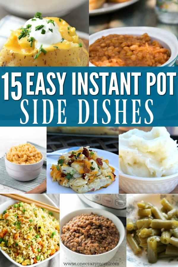 You can make side dishes in just minutes in the instant pot! We have a bunch of delicious and easy instant pot side dishes to try that you will love.