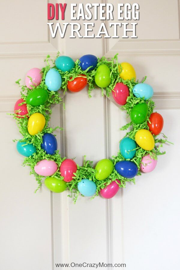 Make This DIY Easter Egg Wreath With Items From The Dollar Store. You Will  Love