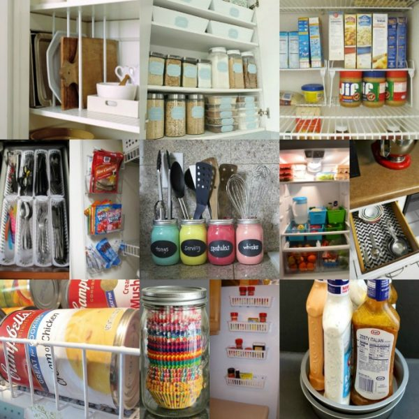 20 Easy Dollar Store Kitchen Organization ideas