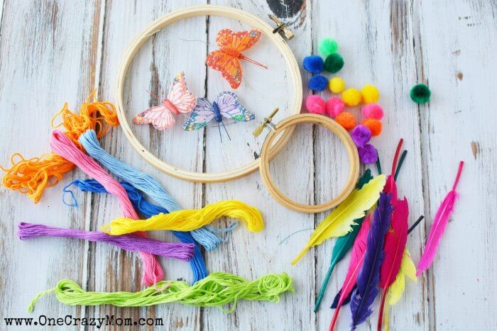 How To Make A DreamCatcher For Kids Fun And Colorful Craft Activity Unique Children's Dream Catcher