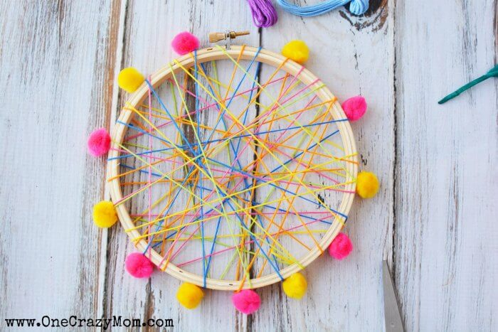 How To Make A DreamCatcher For Kids Fun And Colorful Craft Activity Amazing Making Dream Catchers With Kids