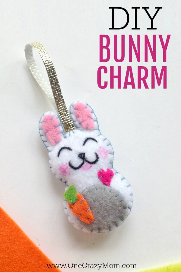 How To Make A Bunny Charm Easter Craft For Kids
