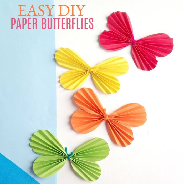 Make this fun butterfly craft for kids! DIY Butterfly Wall Art is so whimsical. Kid's will love making this DIY Paper Butterfly. Easy Paper Butterfly Craft for Kids is fun and easy!