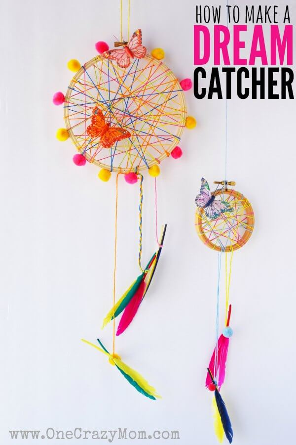 How To Make A DreamCatcher For Kids Fun And Colorful Craft Activity Classy Making Dream Catchers With Kids
