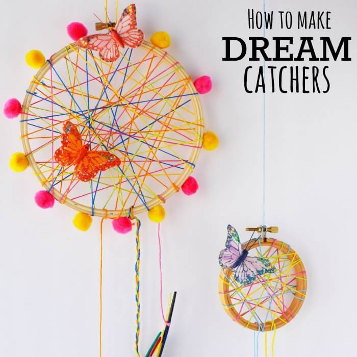 How To Make A DreamCatcher For Kids Fun And Colorful Craft Activity Awesome Making Dream Catchers With Kids