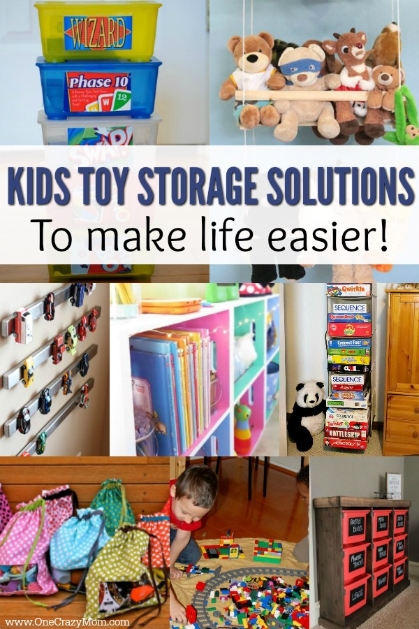 Find easy kids toy storage ideas here. Creative ways to bring order to all the piles of toys. 15 kids storage solutions that won't break the bank. Ideas that are simple and easy!