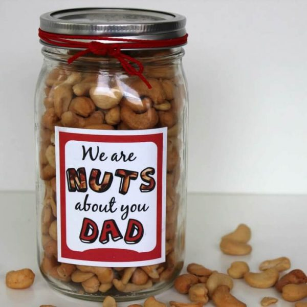 DIY Father's Day Gift Idea: Nuts for Dad