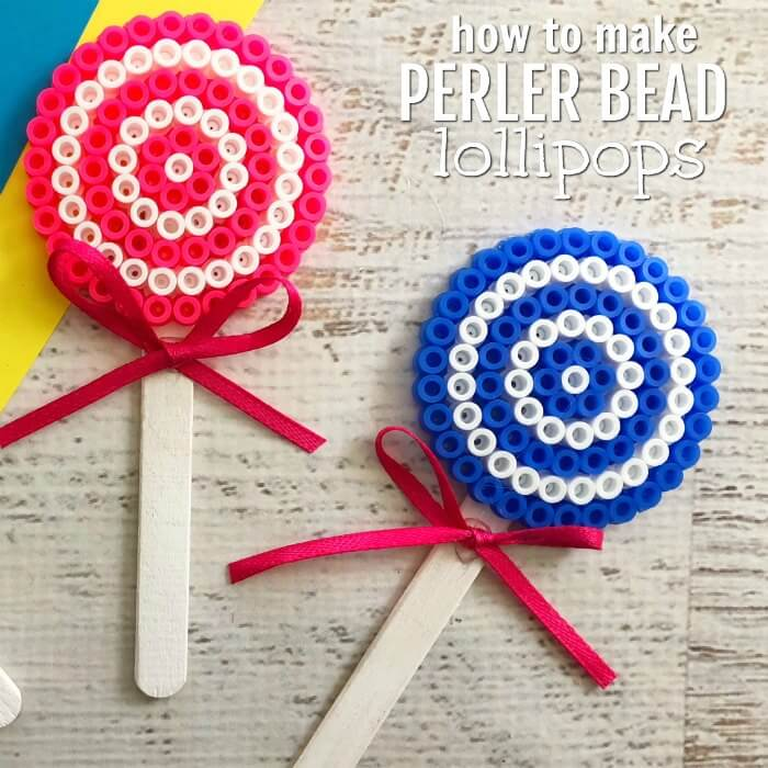 Perler beads are so fun and this Lollipop Perler Beads Craft is the perfect activity for the kids. This craft idea is simple and frugal but a blast to make!