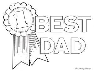 Father's day coloring pages - free Father's day coloring pages