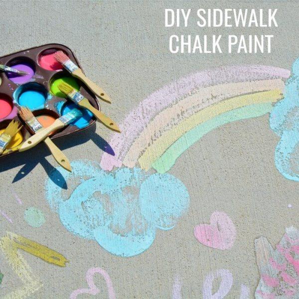How to Make Sidewalk Chalk Paint Easily
