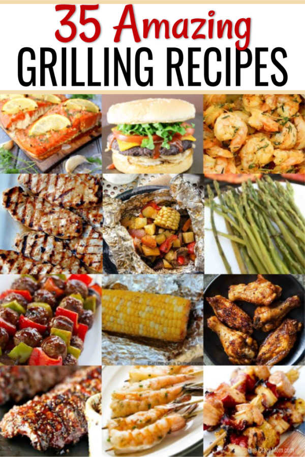 Find 35 easy grill recipes here. You will love these easy grilling recipes to get dinner on the table fast. So yummy and the entire family will enjoy these easy grilled chicken recipes. They are budget friendly and easy to make. Try these easy grill recipes!