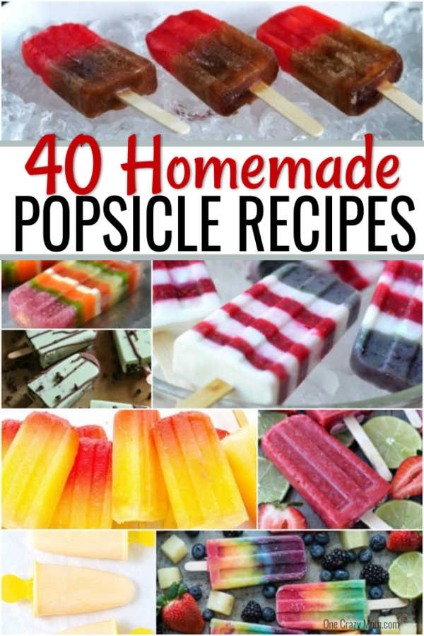 Find lots of yummy and easy popsicle recipes here. 40 homemade popsicle recipes the entire family will love. Cool off this summer with these treats! We have delicious fruit popsicle recipes, chocolate popsicle recipes and much more. There is something for everyone.