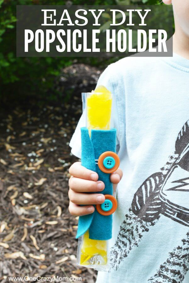 Learn how to make a DIY popsicle holder. It is so simple to make a homemade popsicle sleeve. Kid's will love having their very own popsicle holder. Little hands will not get cold using a homemade popsicle holder. They are so easy to make and budget friendly!