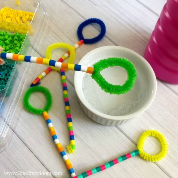 Easy DIY Bubble Wands
