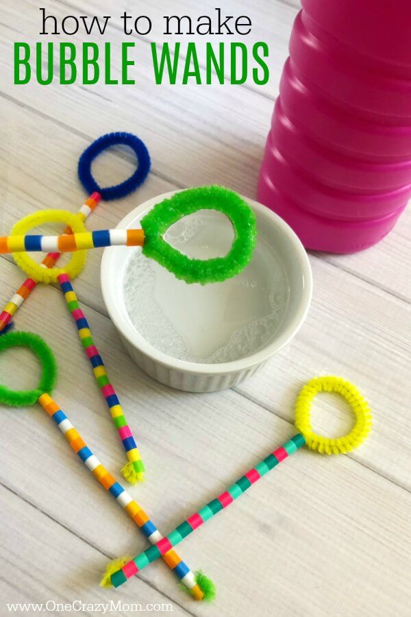 Learn how to make a bubble wand. Make this diy bubble wand for tons of fun. Homemade bubble wands are easy to make. Kids will love decorating the wands with beads.