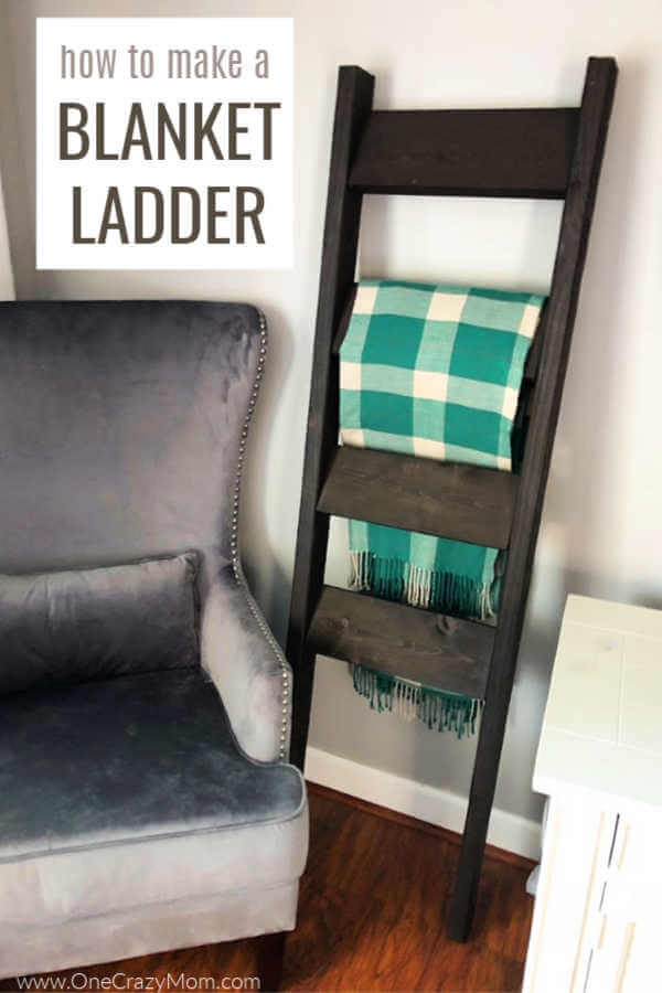 Learn how to make a DIY Blanket Ladder for a fraction of the cost of store bought. This blanket ladder DIY is super easy and so pretty.
