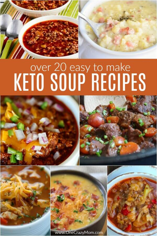 Find over 20 Keto Soup Recipes sure to impress the family. From chili and beef stew to chicken dumplings and more, there is a keto soup for everyone.