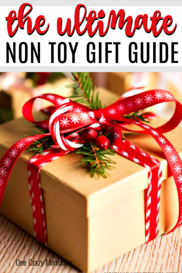 If you're looking for non toy Christmas gift ideas for kids, we have a big list of ideas. These ideas will provide lasting memories and hours of fun on non toy gifts that kids want. #onecrazymom #christmasgiftideas #nontoygifts