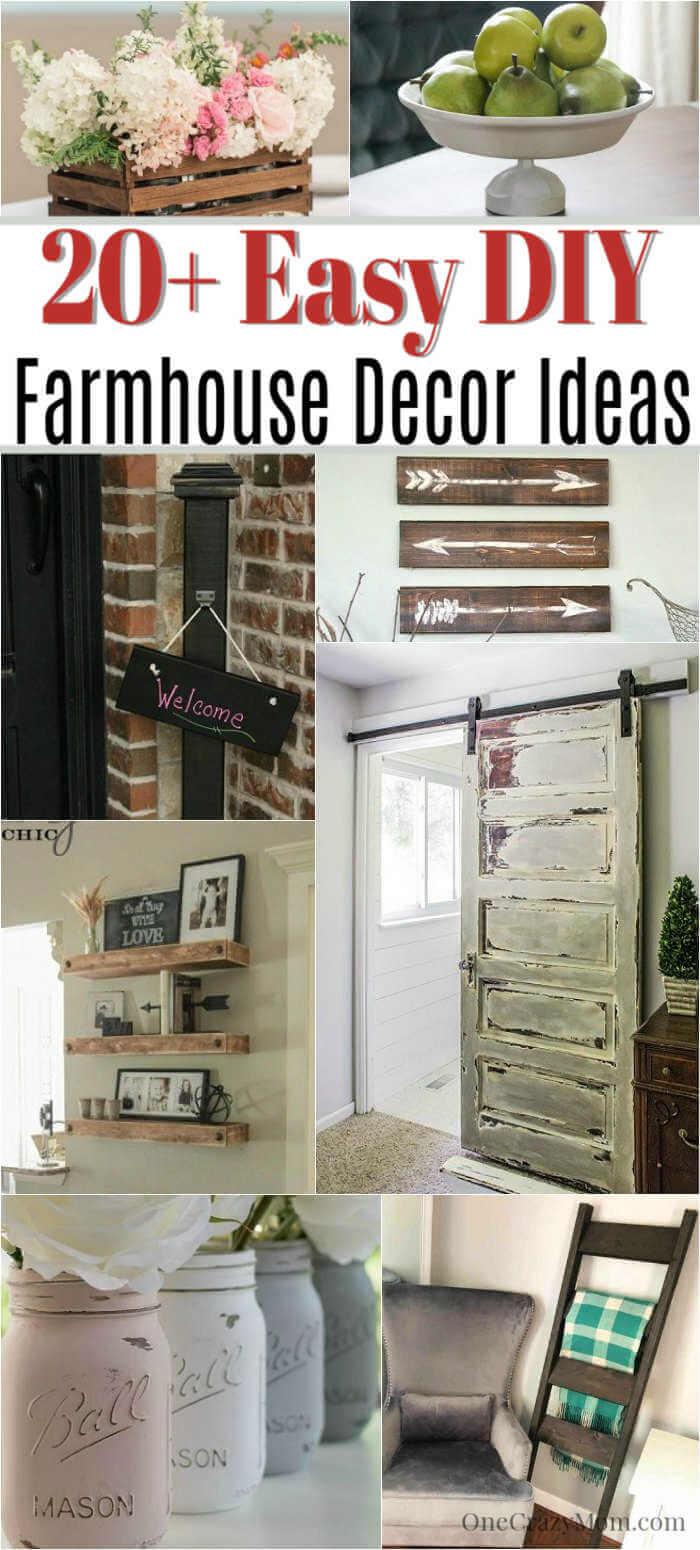 DIY Farmhouse Decor- 20 Easy DIY farmhouse decor Ideas