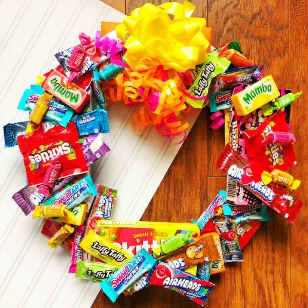 How to make a Candy Wreath for cheap