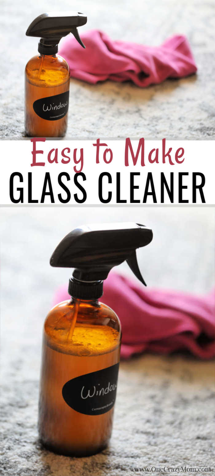 Try this Homemade Glass Cleaner that is non toxic but works great. This is the best DIY glass cleaner and you only need 2 ingredients to make it.