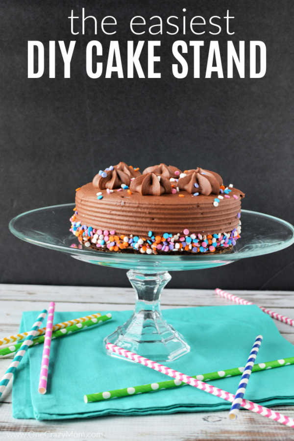 Make this DIY Cake Stand in just minutes. It is so easy and budget friendly to make a homemade cake stand. Proudly display your homemade cake stand.