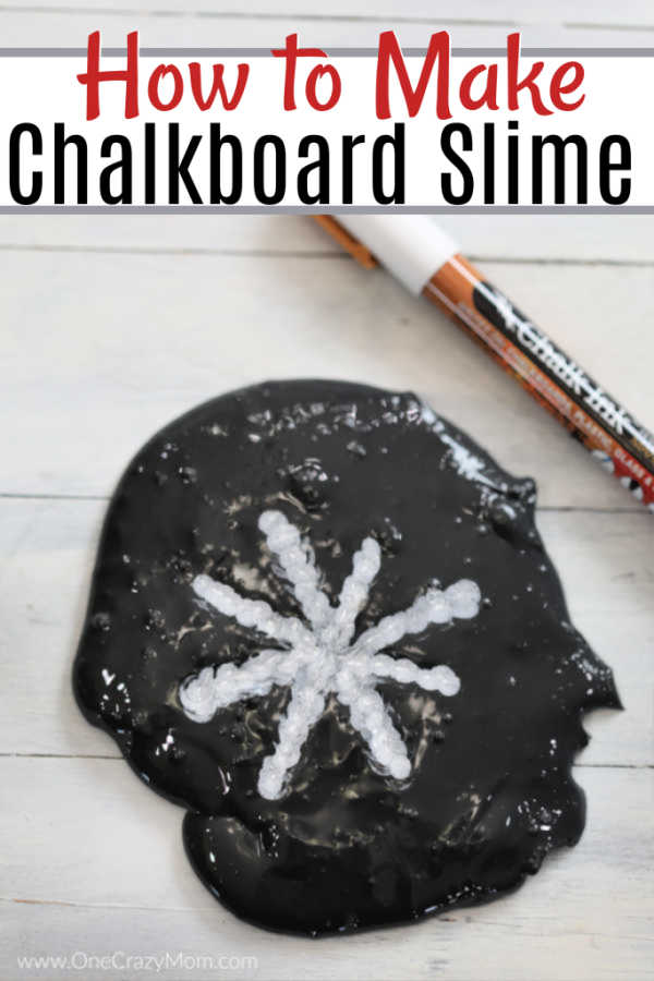 If your kids are crazy over slime, they are going to love to learn how to make Chalkboard Slime! Take slime to the next level with this chalk slime recipe.