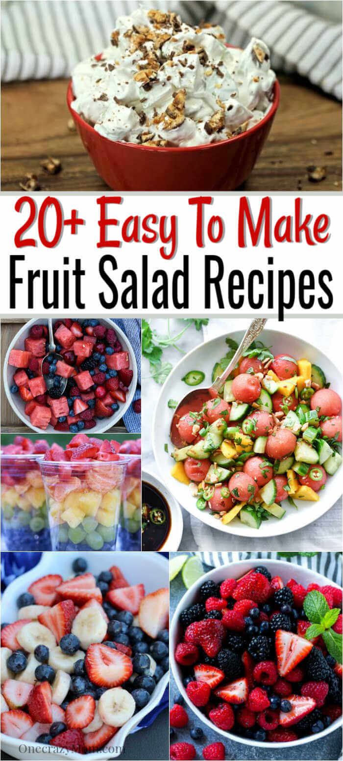 Get ready to enjoy over 20 Summer Fruit Salad Recipes. Beat the heat with one of these cool and refreshing fruit saladdessert recipes.