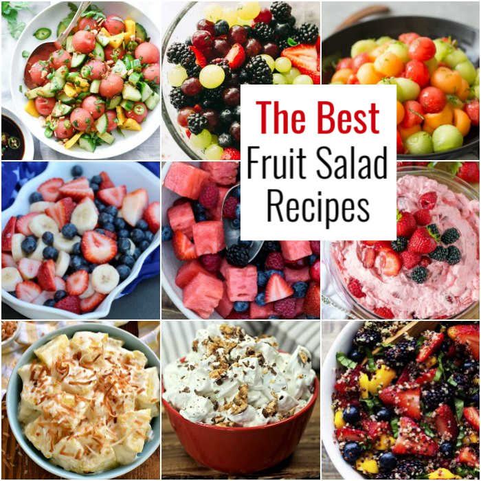 Get ready to enjoy over 20 Summer Fruit Salad Recipes. Beat the heat with one of these cool and refreshing fruit salad dessert recipes.