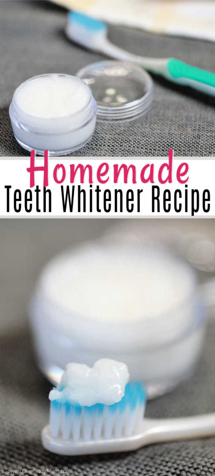 DIY Teeth Whitening is all natural and works great to whiten your teeth. With just a few simple ingredients, you can make this at home teeth whitening diy.