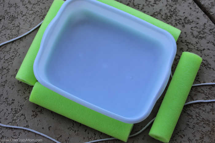 This DIY floating pool cooler is so fun and you can make it for less than $5! Beat the heat and make this pool beverage cooler to enjoy all Summer long.