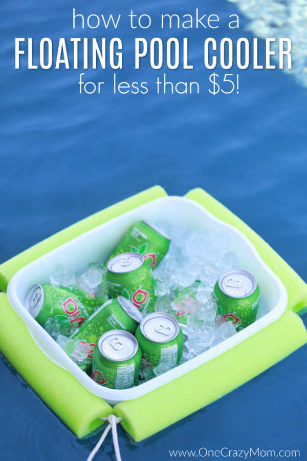 This DIY floating pool cooler is so fun and you can make it for less than $5! Beat the heat and make this poolbeveragecooler to enjoy all Summer long.