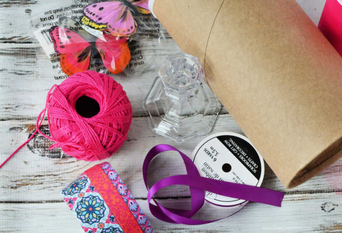 Make this easy DIY Headband Holder and organize your hair accessories. You probably already have what you need to make this adorable DIY Headband Holder.