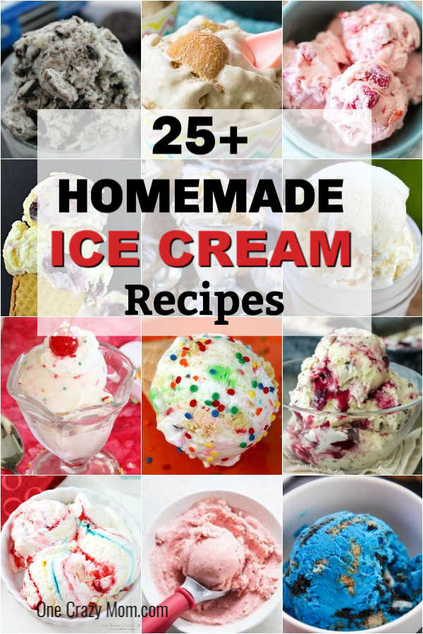 We have 30 of the Best Homemade Ice Cream Recipes you are going to love and are perfect for summer or any season! Give these easy and some healthy recipes a try and enjoy treats all Summer long! #onecrazymom #icecreamrecipes #homemadeicecream
