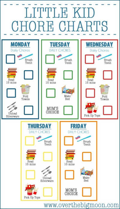 We have several Chore Charts for kids that you can choose from that will teach your kids responsibility. Motivate kids with these age appropriate chores.