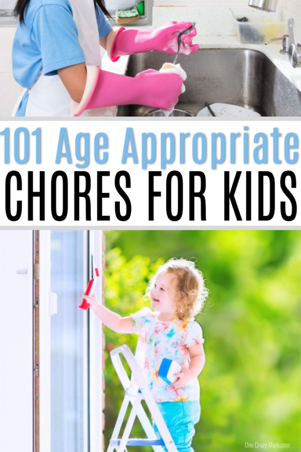 We have 100+ ideas for Age appropriate Chores for kids. Help kids learn task completion, responsibility and more with age appropriate chores for children.