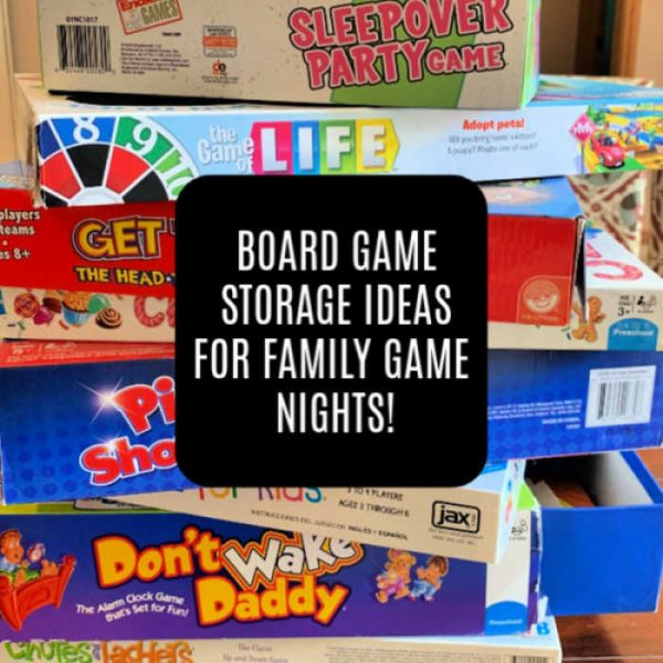 Board Game Storage Ideas for Family Game Night