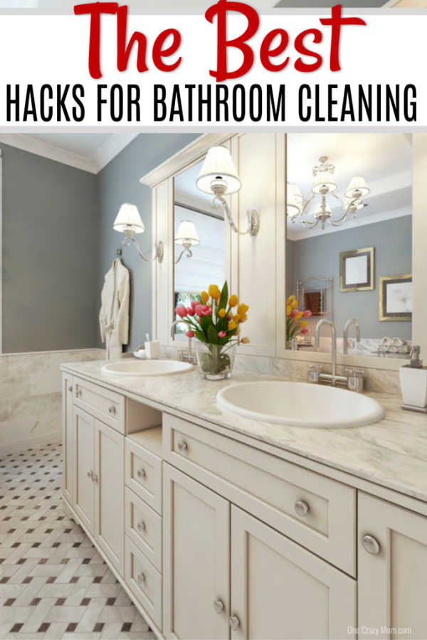 Your bathroom will be sparkling clean with these BATHROOM CLEANING HACKS. We have over 15 genius bathroom cleaning hacks you need to try.