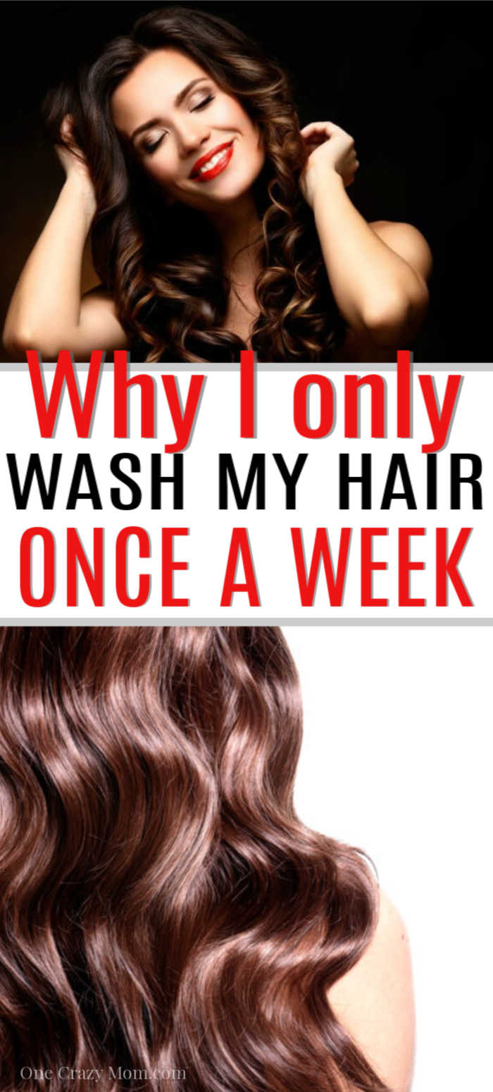 Have you ever wondered how often should you wash your hair?  Find out how and why I only wash my hair once a week! Save time and make your hair healthier.