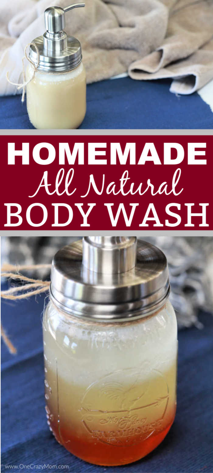 DIY Body Wash is so easy to make and leaves your skin really soft and hydrated. Our entire family loves it including the kids!