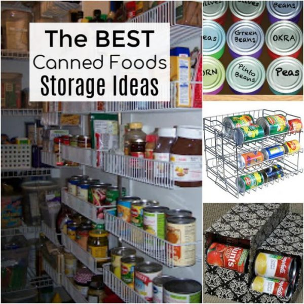 15+ Canned Food Storage Ideas to Organize your Pantry
