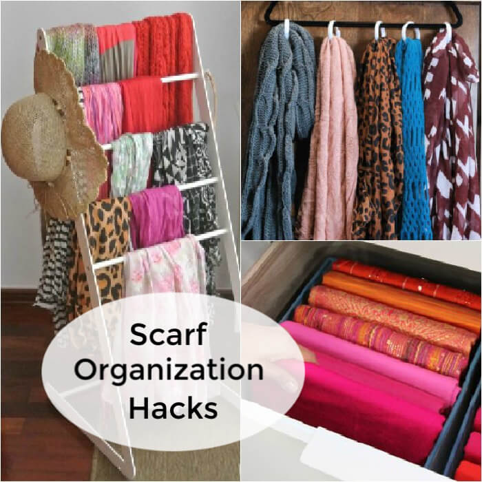 Do you have a ton of scarves but no where to put them? We have creative ways to organize scarves that are easy and budget friendly.